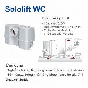 Máy bơm nghiền rác phòng vệ sinh Grundfos Sololift WC
