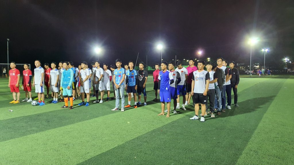 8 đội bóng tham gia giải bóng đá liên hiệp các nhà thầu cơ điện Đà Nẵng
