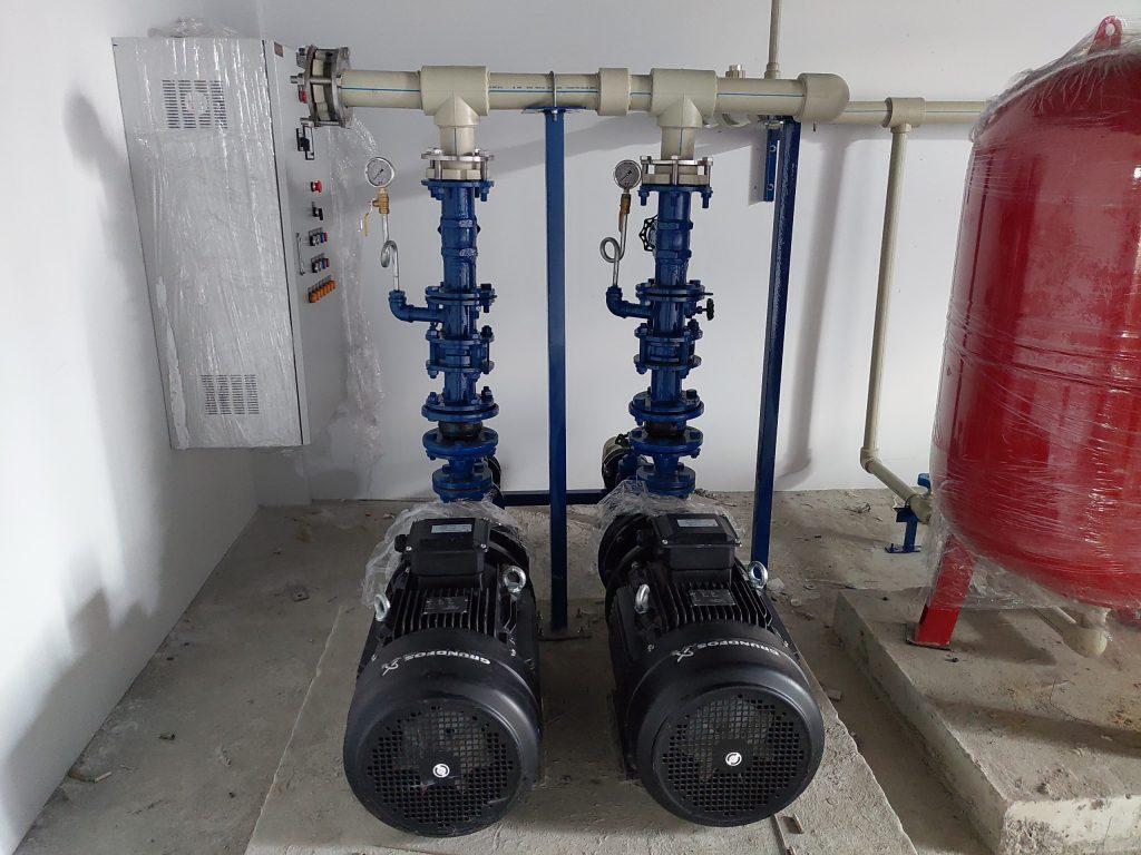 Máy bơm nước công suất lớn - cụm bơm dự án khu biệt thự nghỉ dưỡng ven sông X2
