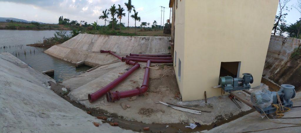 Máy bơm nước công suất lớn - cụm bơm dự án thủy lợi