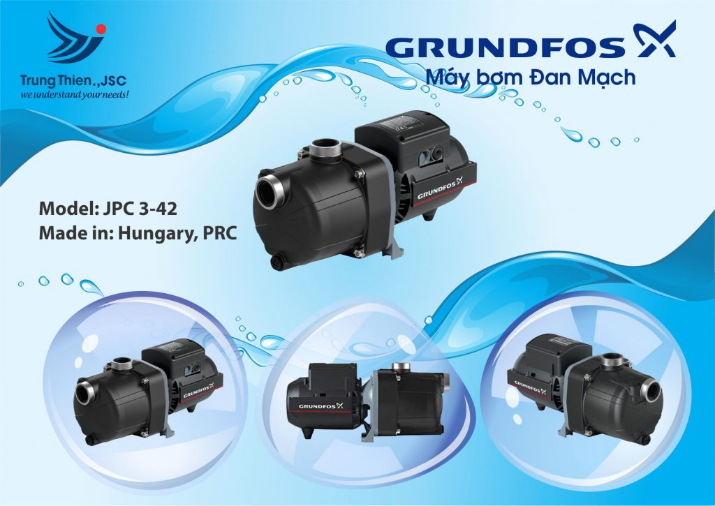 Máy bơm nước đẩy cao Grundfos