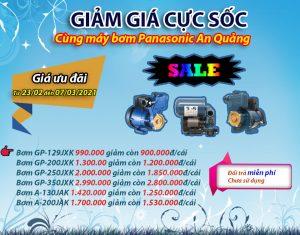 Giảm giá máy bơm nước Panasonic
